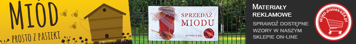 banery reklamowe, sprzedaż miodu